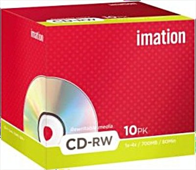 Imation CD-RW 80min/700MB  1-4x, 10er-Jewelcase (i19001)