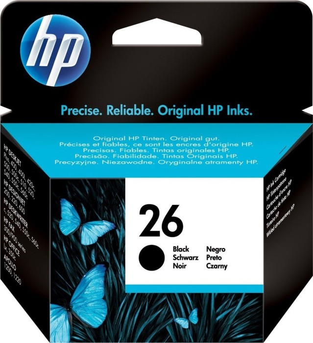 HP Printhead with ink Nr 26 black (51626AE)