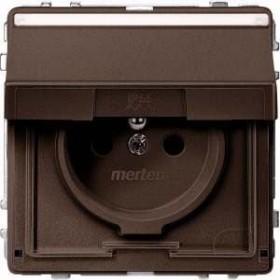 Merten Aquadesign Steckdose mit Schutzkontaktstift, dunkelbrasil (MEG2612-7215)