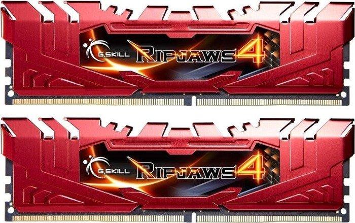 G.Skill RipJaws 4 rot DIMM Kit 8GB, DDR4-2800, CL16-16-16-36 (F4-2800C16D-8GRR)