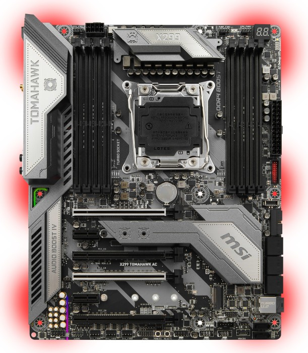 MSI X299 Tomahawk AC (7B05-002R) -- via Amazon Partnerprogramm