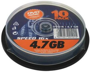 BestMedia Platinum DVD-R 4.7GB 8x, 10-pack