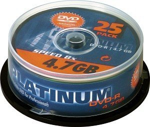 BestMedia Platinum DVD-R 4.7GB 8x, 25-pack Spindle (100302)