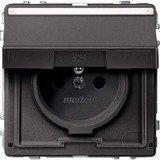 Merten Aquadesign Steckdose mit Schutzkontaktstift, anthrazit (MEG2612-7214)