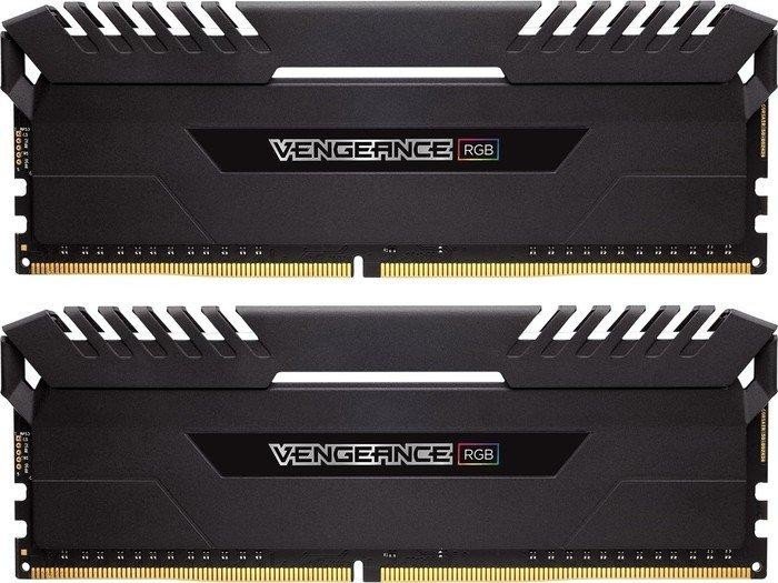 Corsair Vengeance RGB black DIMM kit 32GB, DDR4-3200, CL16-18-18-36 (CMR32GX4M2C3200C16)