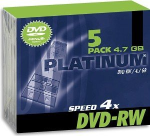 BestMedia Platinum DVD-RW 4.7GB 4x, 5-pack Jewelcase (100300)