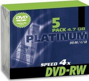 BestMedia Platinum DVD-RW 4.7GB 4x, Jewelcase 5 sztuk (100300)
