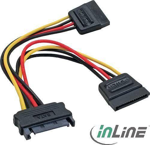 InLine SATA socket to 2x SATA plug Y cable 0.15m (29683V)