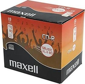 Maxell Music XL-II 80 CD-R 80min/700MB 52x, 10-pack Jewelcase (624880)