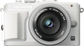 Olympus PEN E-PL6 weiß mit Objektiv M.Zuiko digital 14-42mm EZ (V205055WE010)