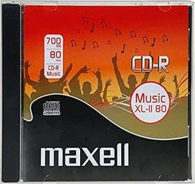 Maxell Music XL-II 80 CD-R 80min/700MB 52x, 1-pack Jewelcase (624880/1)