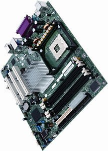 Intel D865GLCL (dual PC-3200 DDR)