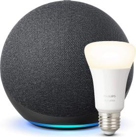 Amazon Echo 4. Generation schwarz inkl. Philips HUE LED