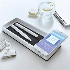 Leitz WOW Duo Colour Stifteschale mit Induktionsladegerät, weiß/schwarz (53651095)