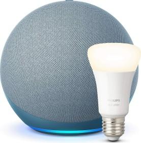 Amazon Echo 4. Generation blaugrau inkl. Philips HUE LED