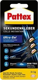 S Pattex 9H PSMG3 Sekundenkleber Ultra Gel Mini Trio 3 Tuben 1 g