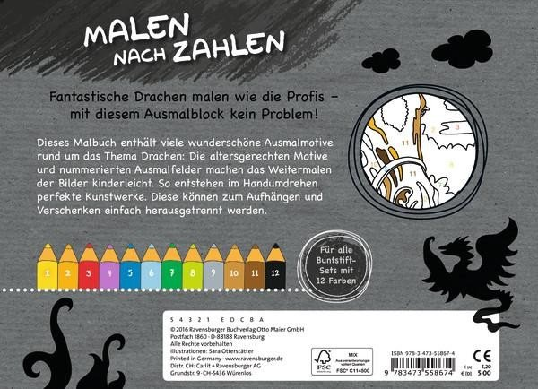 Ravensburger Malen Nach Zahlen Drachen 55867
