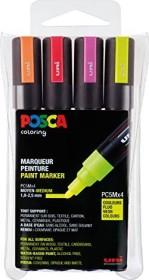 Uni-Ball POSCA PC-5M Acryl-Farbmarker sortiert, Neonfarben, 4er-Set (182505)