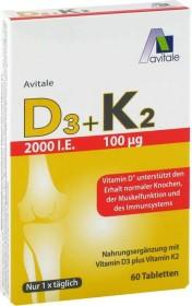 Avitale D3 + K2 Tabletten, 60 Stück