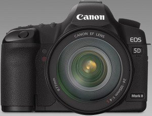 Canon EOS 5D Mark II black with lens EF 24-70mm 2.8 L USM (2764B036)