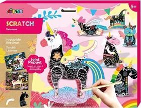 Avenir Scratch Joint Puppet Unicorns (CH191683)