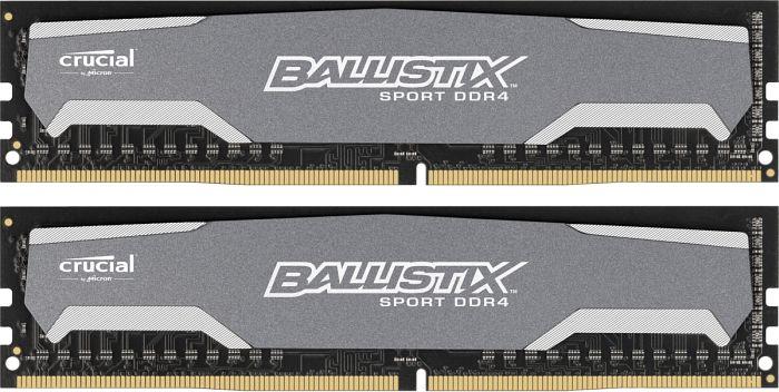 Crucial Ballistix Sport DIMM Kit 8GB, DDR4-2400, CL16 (BLS2C4G4D240FSA/BLS2K4G4D240FSA)
