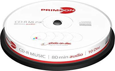 Primeon CD-R 80min/700MB, 10er-Pack -- via Amazon Partnerprogramm