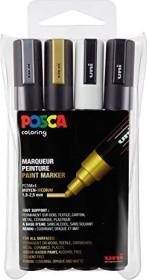 Uni-Ball POSCA PC-5M Acryl-Farbmarker sortiert, 4er-Set (182504)
