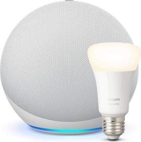 Amazon Echo 4. Generation weiß inkl. Philips HUE LED