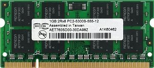 Aeneon SO-DIMM   1GB, DDR2-800, CL5 (AET760SD00-25D)