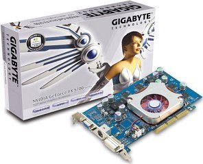 Gigabyte GV-N57128D, GeForceFX 5700, 128MB DDR, DVI, TV-out