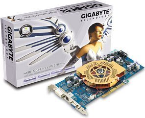 Gigabyte GV-N57U128D, GeForceFX 5700 Ultra, 128MB DDR2, DVI, TV-out, AGP