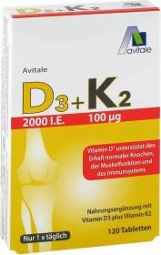 Avitale D3 + K2 Tabletten, 120 Stück