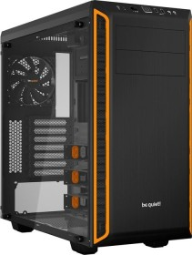 be quiet! Pure Base 600 schwarz/orange, Glasfenster (BGW20)