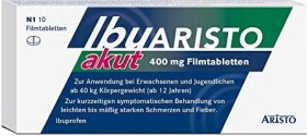 Aristo Pharma IbuARISTO akut 400mg Filmtabletten, 10 Stück