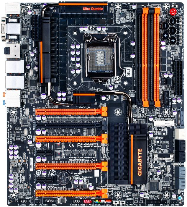 Gigabyte GA-Z77X-UP7, Z77 (dual PC3-12800U DDR3)