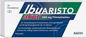 Aristo Pharma IbuARISTO akut 400mg Filmtabletten, 20 Stück