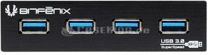 "BitFenix 4x USB 3.0 front panel black, 3.5"", multifunctional frontpanel (BFA-U3-K435-RP)"
