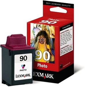 Lexmark 90 Printhead with ink coloured photo (12A1990)
