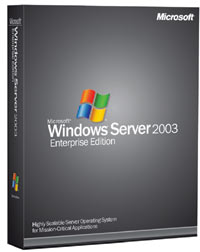Microsoft: Windows Server 2003 R2 Enterprise wraz z 25 licencjami OEM/DSP/SB, EDU (angielski) (PC) (P72-02428)