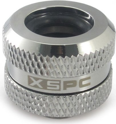 """XSPC pipe connection 1/4"""" on 14mm, chrome-plated"""