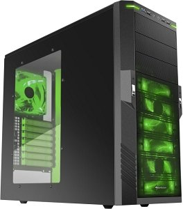 Sharkoon T9 Value green with side panel window