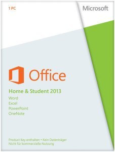 Microsoft: Office 2013 Home and Student, PKC (niederländisch) (PC) (79G-03602)