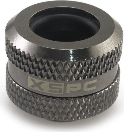 """XSPC pipe connection 1/4"""" on 14mm, black chrome-plated"""