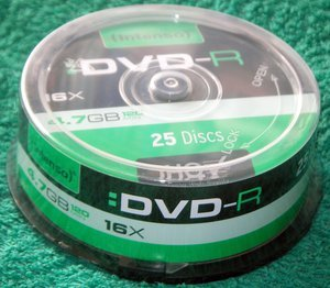 Intenso DVD-R 4.7GB, 25er-Pack -- provided by bepixelung.org - see http://bepixelung.org/6354 for copyright and usage information