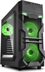Sharkoon VG7-W grün, Acrylfenster