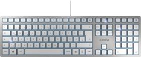 Cherry KC 6000 Slim silber, USB, DE (JK-1600DE-1)
