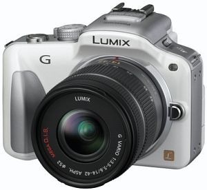 Panasonic Lumix DMC-G3 white with lens Lumix G vario 14-42mm 3.5-5.6 OIS (DMC-G3K)