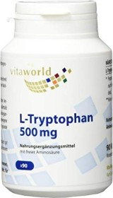 vitaworld L-Tryptophan 500mg Kapseln, 90 Stück
