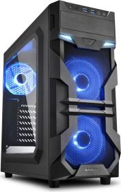 Sharkoon VG7-W blau, Acrylfenster
